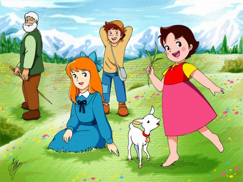Heidi dessins anim s topkool - Coloriage heidi ...